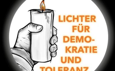 Lichter für Demokratie und Toleranz