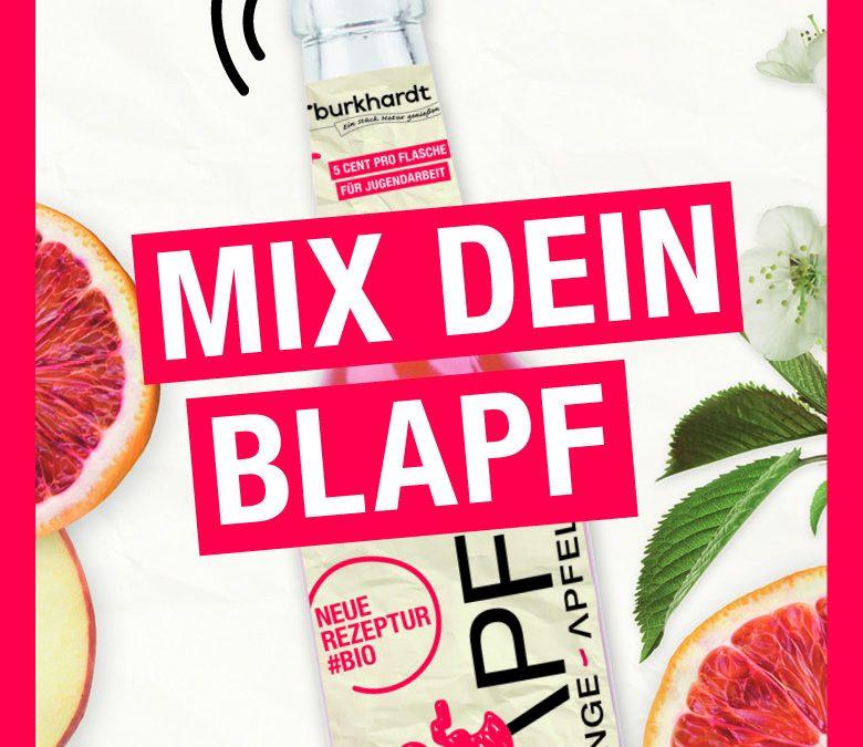 """""""Mix dein BLAPF""""- eine Kiste für alkoholfreie Cocktails. Jetzt anmelden!"""