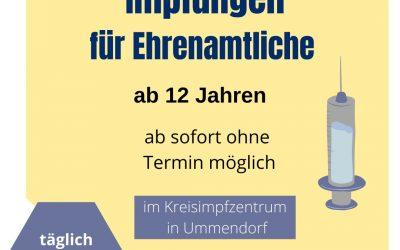 Ohne Termin: Impfung für Ehrenamtliche in der Kinder- und Jugendarbeit ab dem 12. Lebensjahr